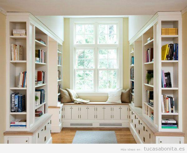 Idea diseño biblioteca en casa