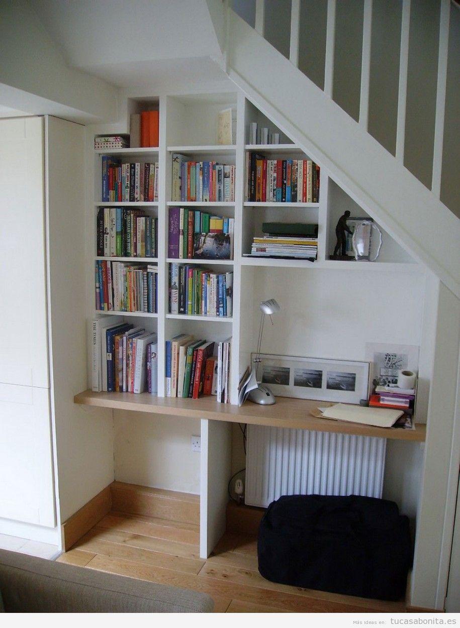 Ideas excepcionales para tener una preciosa biblioteca en for Biblioteca debajo de la escalera
