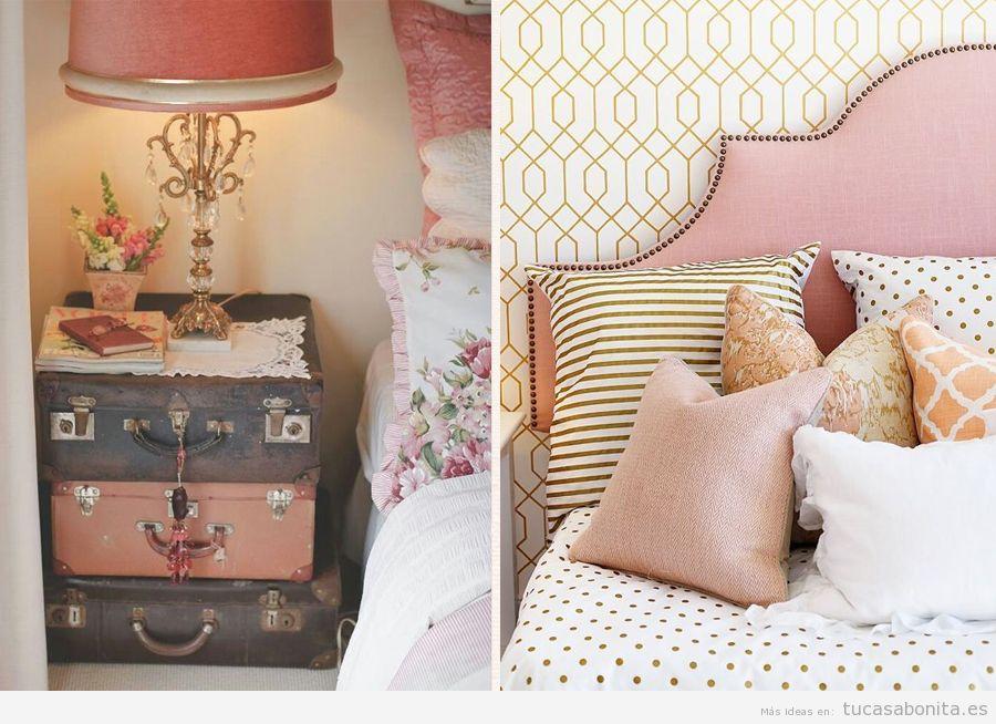 Dormitorio matrimonio color rosa cuarzo, color Pantone 2016