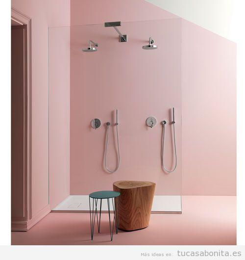 Baño color rosa cuarzo, color Pantone 2016