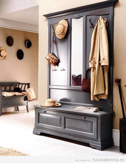 Ideas para decorar un recibidor estilo vintage y que sea - Muebles recibidor vintage ...
