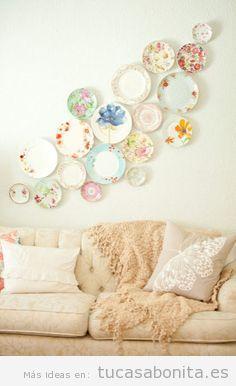 Decoración de paredes de casa estilo vintage y original