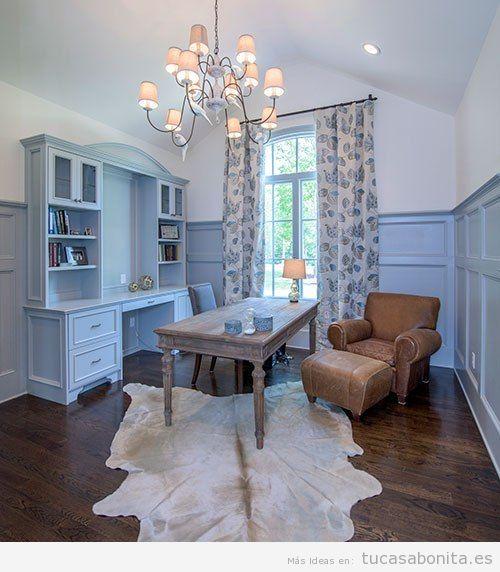 Decoraci n de casa con paredes y muebles color azul for Pintar paredes colores de moda 2016
