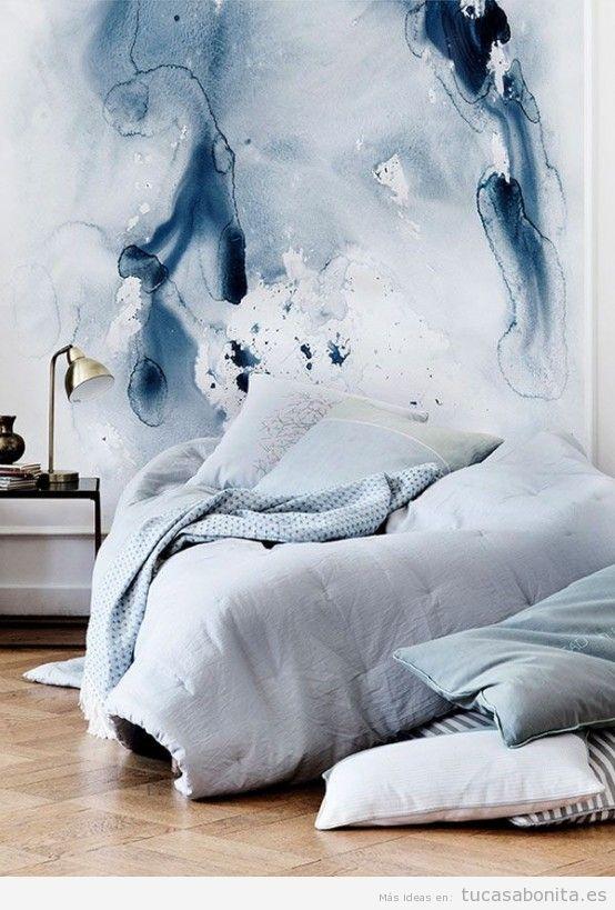 Decorar casa cuadros color de moda azul serenidad