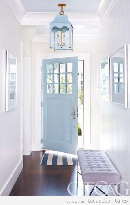 Decorar casa puertas color de moda azul serenidad