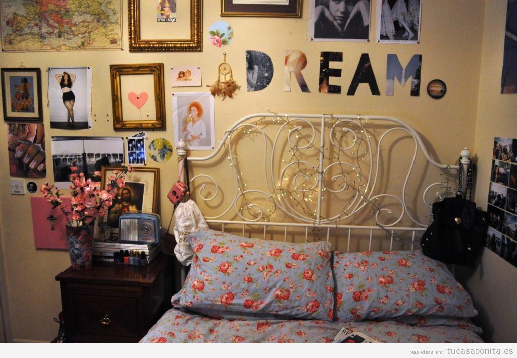 Decoración dormitorio estilo hipster