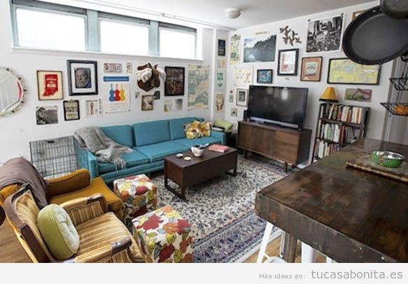 Decorar salones dormitorios despachos y cocinas estilo - Cuadros vintage para salon ...