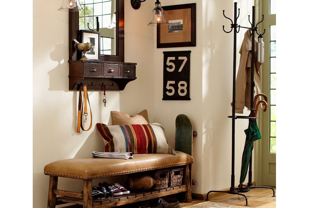 Ideas para decorar un recibidor estilo vintage y que sea funcional