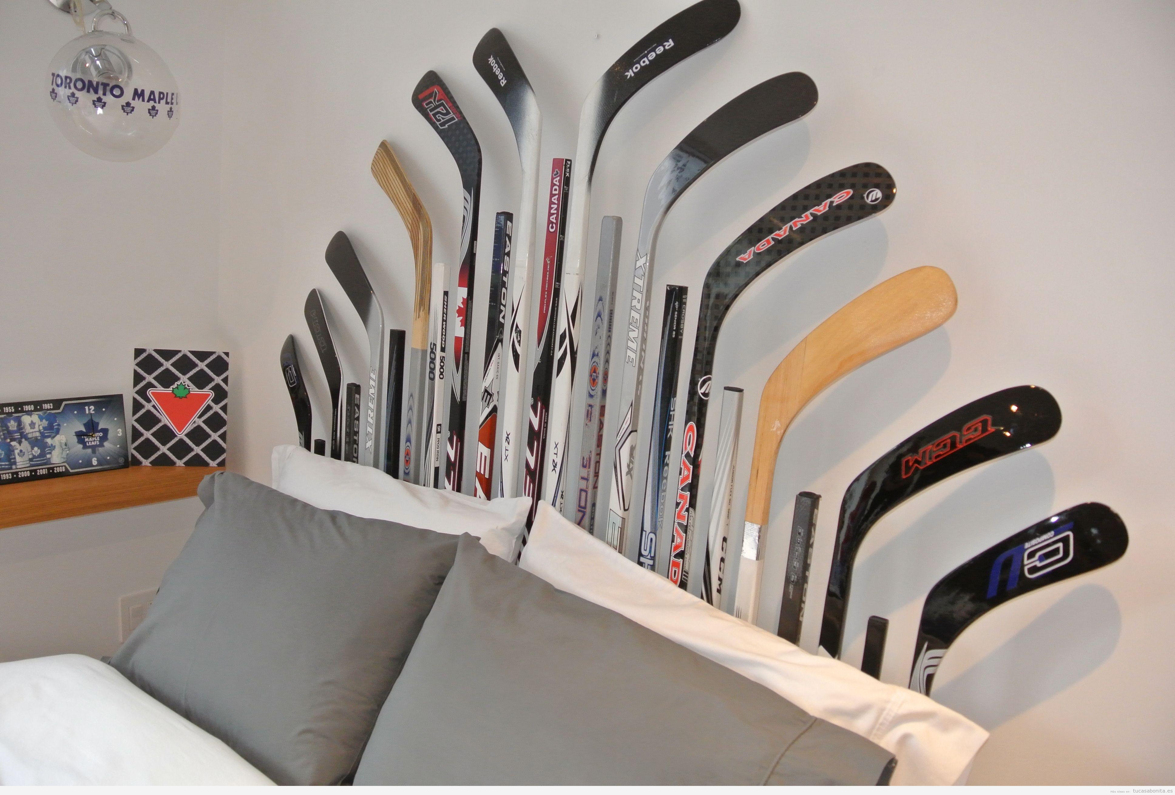 Manualidades decorar casa con palos de hockey