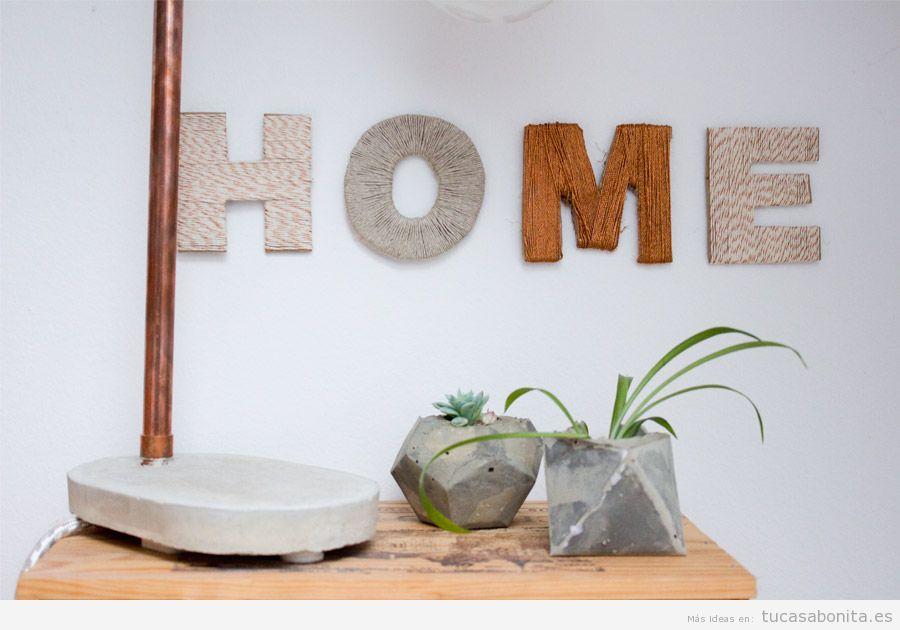 7 manualidades originales y bonitas para decorar tu casa for Manualidades en casa
