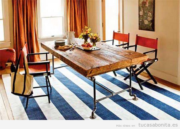 Mesas comedor DIY hechas con palets vigas o travesaños
