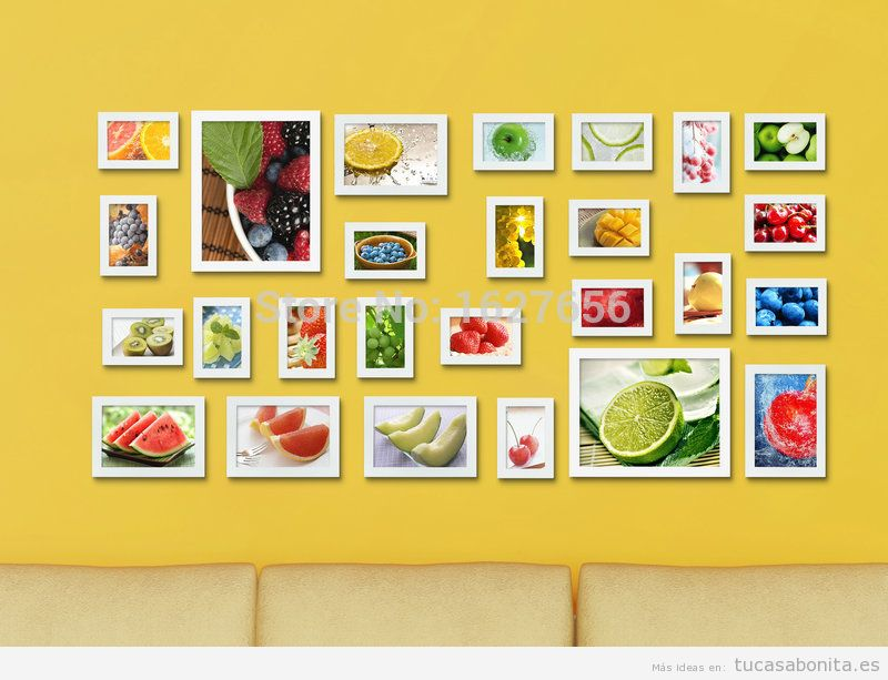 Ideas decorar pared baño o cocina con mural de fotos