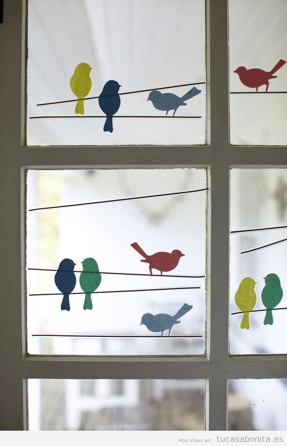 decoracin de ventanas con pegatinas y sin cortinas