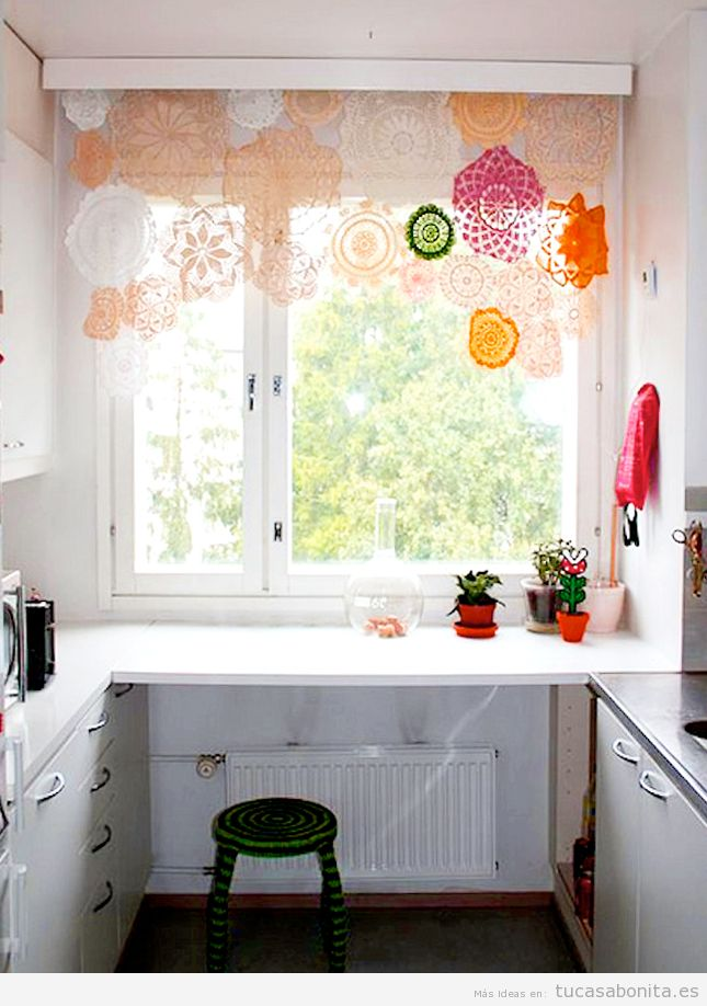Ideas bonitas y originales para decorar ventanas sin for Cortinas de cocina originales