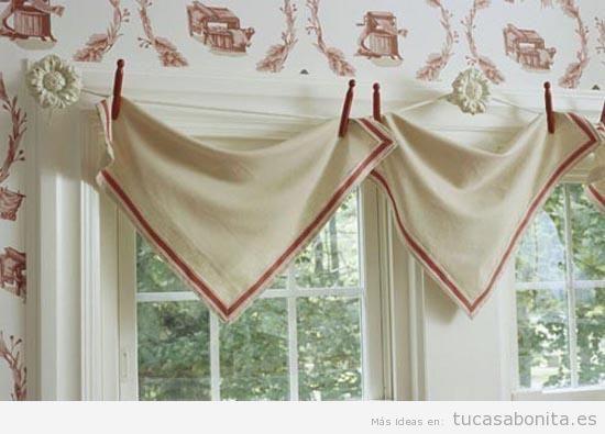 Decoración de ventanas con paños y pañuelos 2