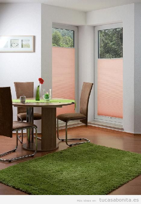 Decoración de ventanas con estores diferentes 2
