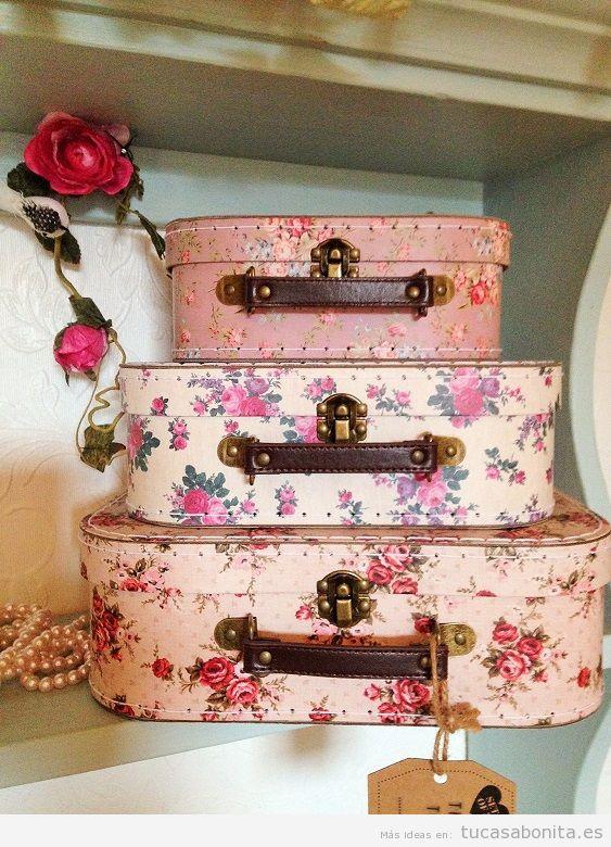 Comprar online maletas flores vintage