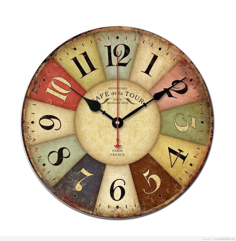 Detalles para una decoraci n vintage por entre 12 y 39 - Relojes para decorar paredes ...