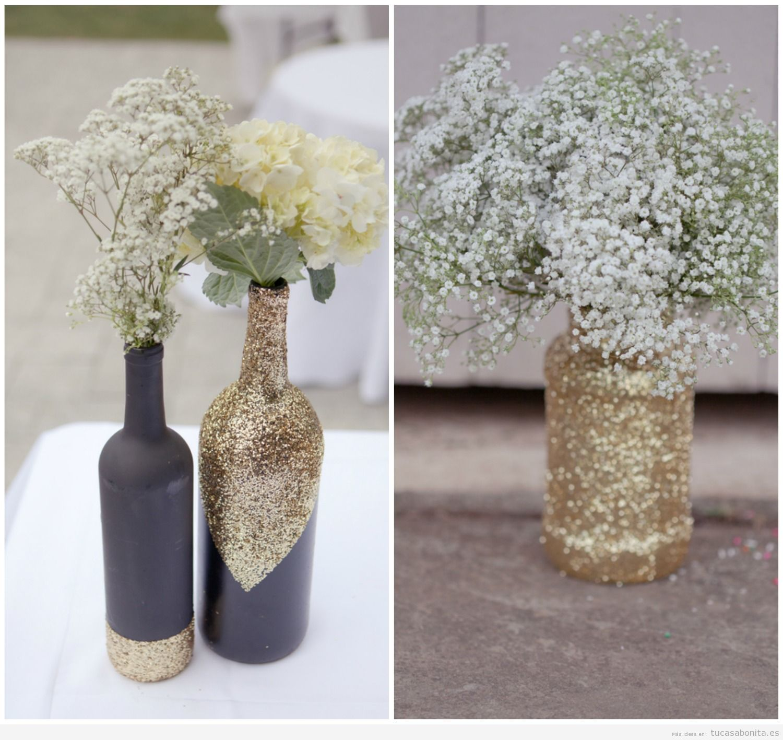 Jarrones diy bonitos y originales para decorar tu csa tu for Adornos decorativos