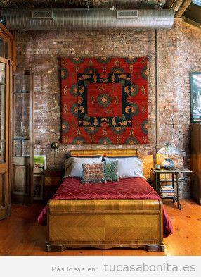Decoración dormitorio estilo étnico