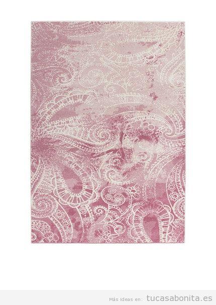 Alfombra estampada rosa de diseño marca Kayoom Carpets, outlet online