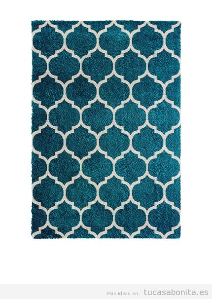 Alfombra estampada azul vintage de diseño marca Kayoom Carpets, outlet online