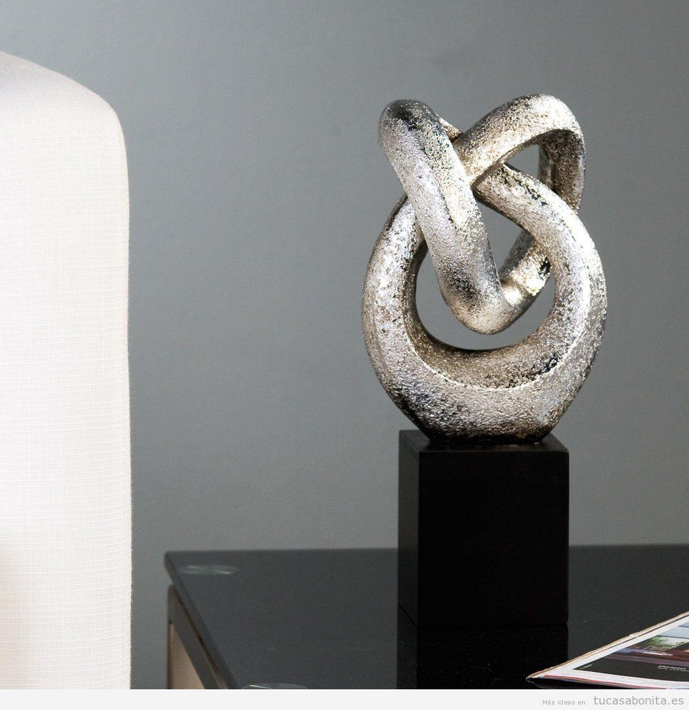 esculturas modernas para decorar tu casa con mucho arte