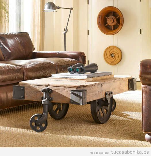 Salón o sala de estar decortado estilo industrial
