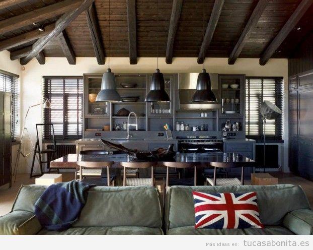Salón o sala de estar decortado estilo industrial 2
