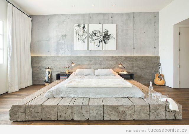 Habitación matrimonio decoración industrial