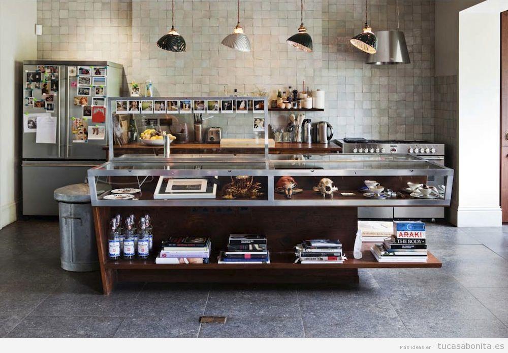 Decoraci n industrial para salones cocinas dormitorios y for Fabrica de cocinas industriales