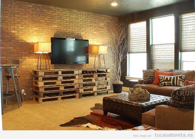 Salón o sala de estar decortado estilo industrial 3