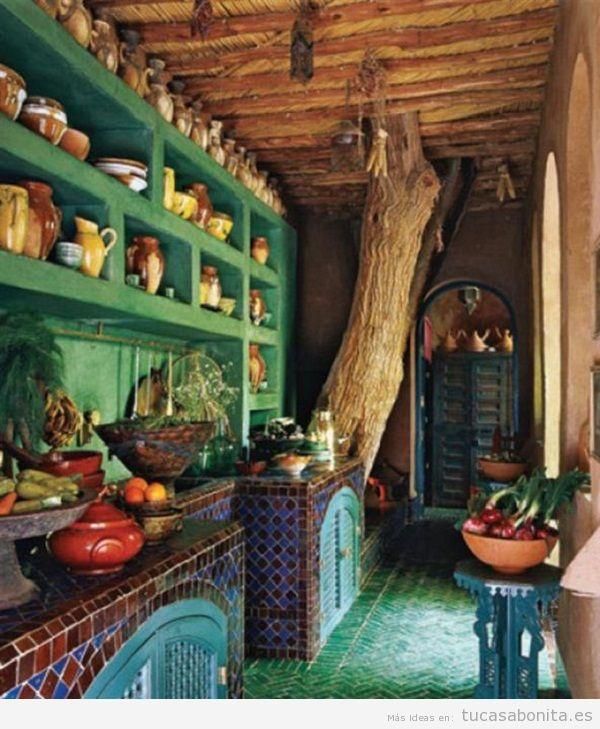 Decoración cocina estilo étnico marroquí