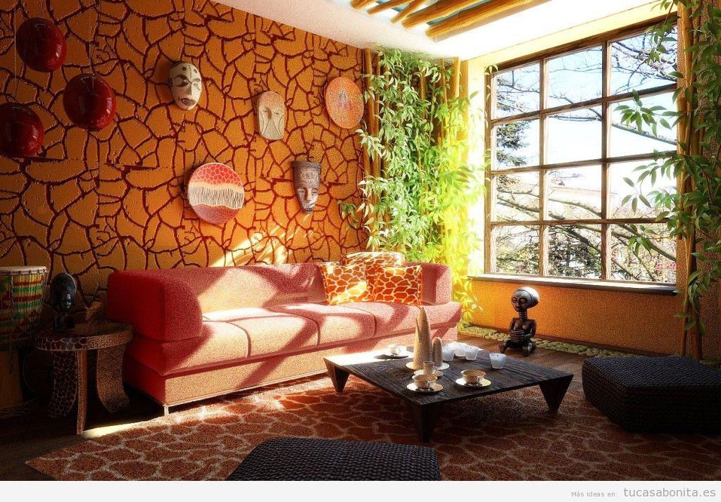 Decoración sala de estar estilo étnico 2