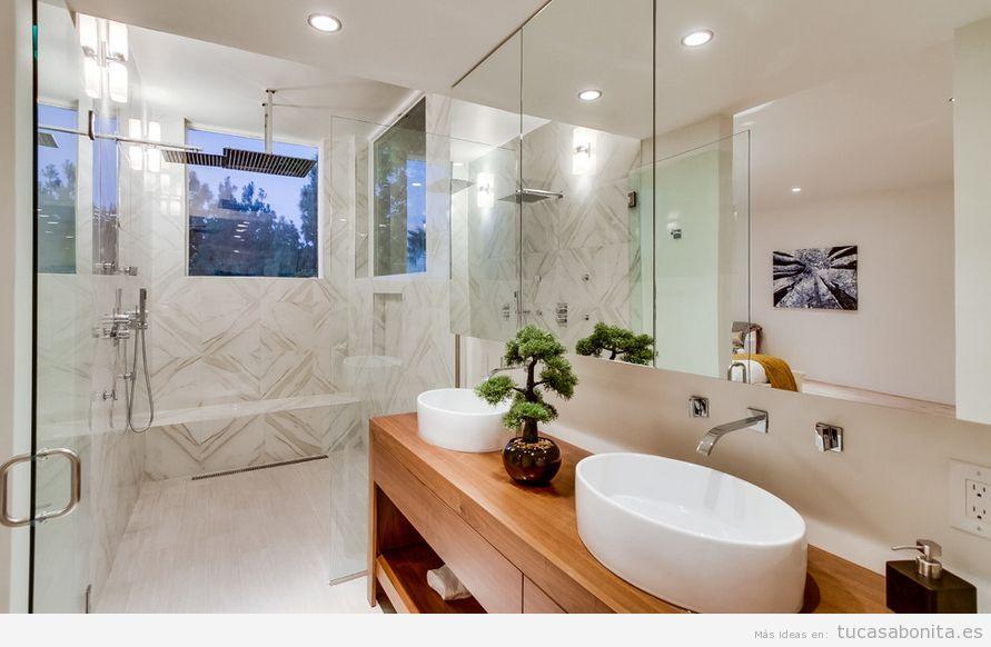 Bonsais para decorar baño