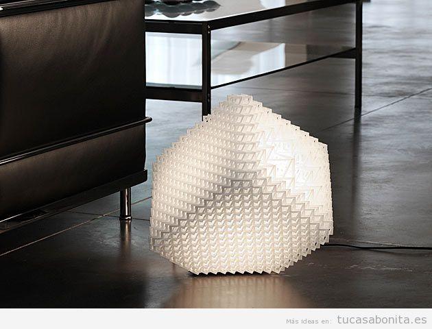 Escultura luminosa decorar salón de casa