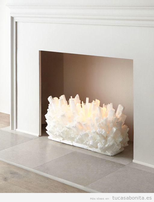 Escultura moderna decorar chimenea