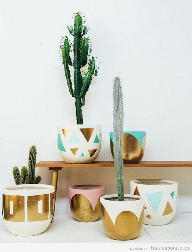 Decorar casa con cactus de interior tu casa bonita - Maceteros de pie ...