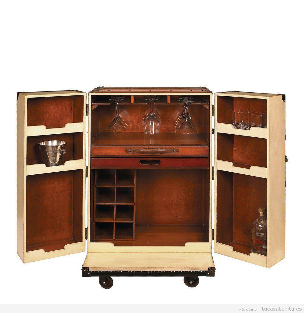 Baúl antiguo mueble bar comprar online