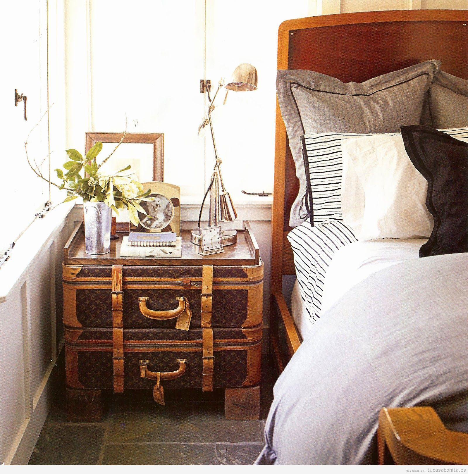 Maletas antiguas y ba les para decorar distintas estancias - Cosas antiguas para decorar ...