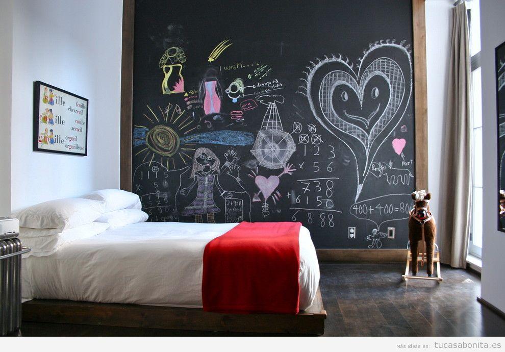 Ideas decorar habitaciones con pizarras con dibujos
