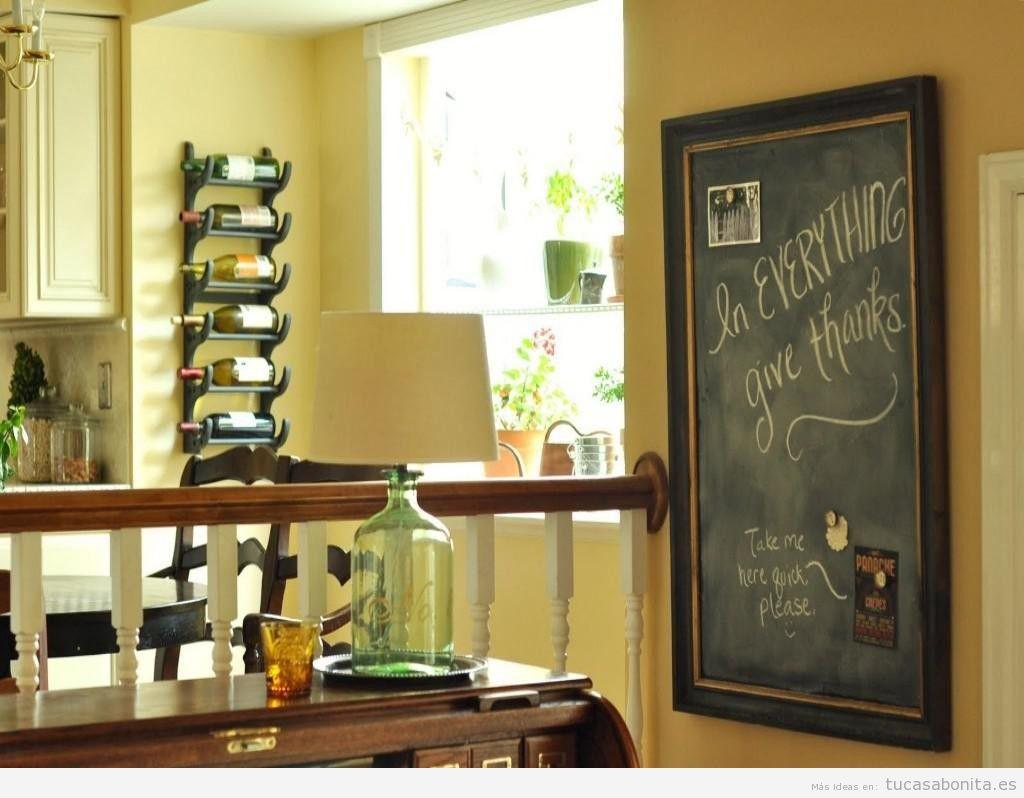 Ideas decorar cocina con pizarras con mensajes 2