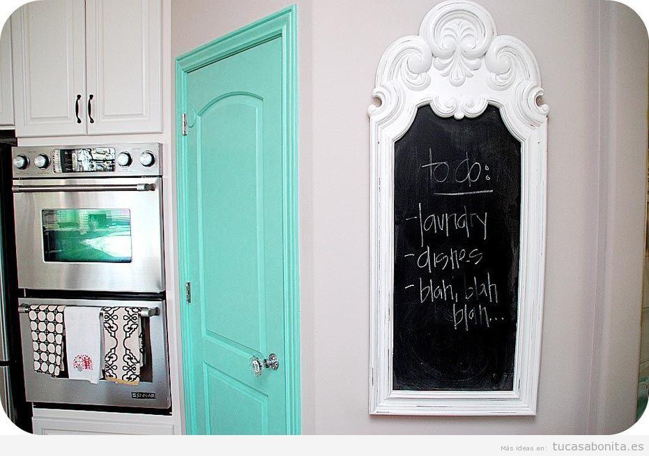Ideas decorar cocina con pizarras con notas