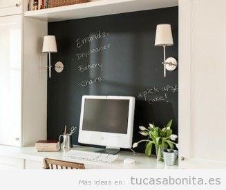 Ideas decorar oficina con pizarras con notas y calendarios