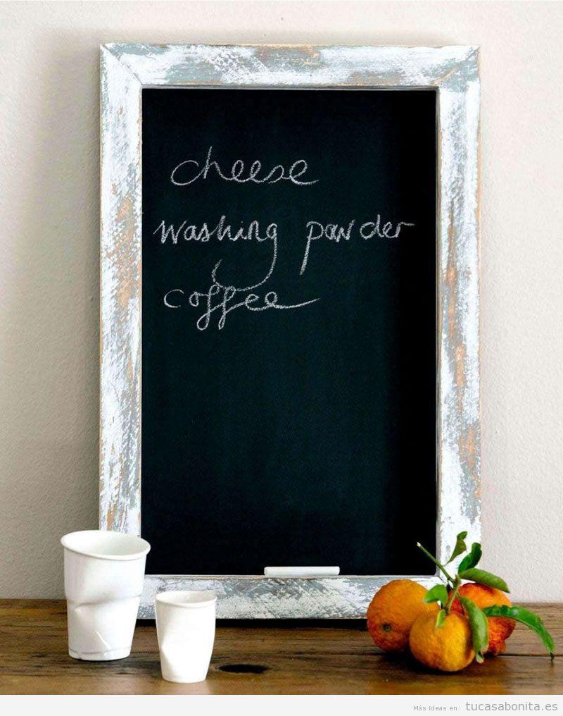 Ideas decorar salón con pizarras con mensajes