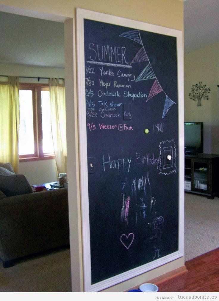 Ideas decorar salón con pizarras con mensajes 2