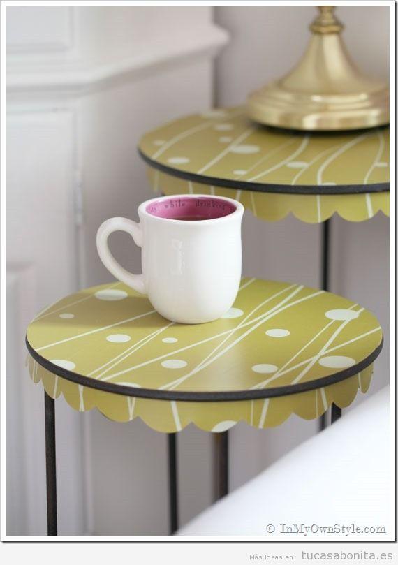 Ideas decorar muebles y mesas con papel