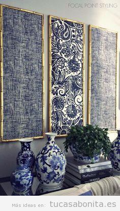 Cuadros hechos con telas hazlo t mismo tu casa bonita - Decorar paredes con telas ...