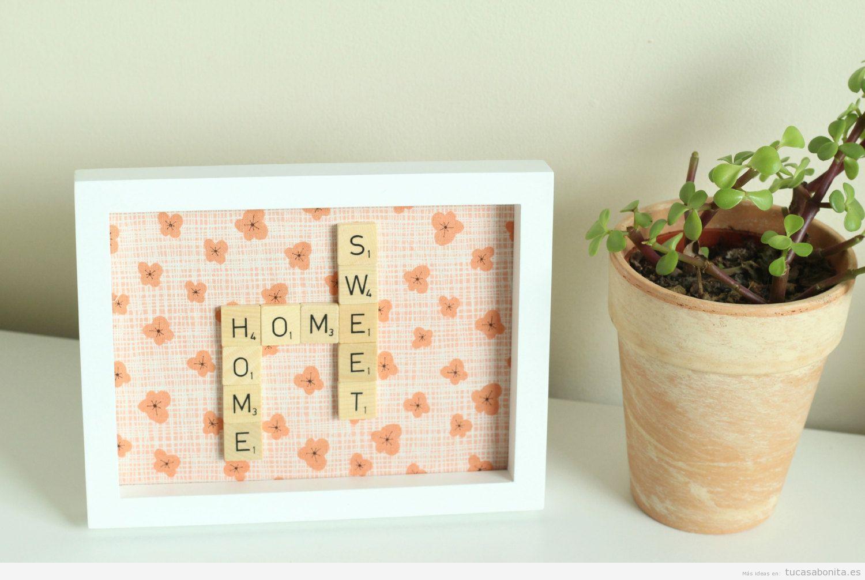 Cuadros hechos con telas: hazlo tú mismo - Tu casa Bonita