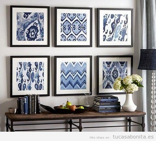 Decoración de paredes con cuadros de tela 6